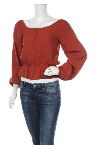 Γυναικεία μπλούζα About You, Μέγεθος S, Χρώμα Καφέ, Βισκόζη, Τιμή 13,39€