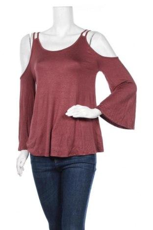 Дамска блуза Active Basic USA, Размер S, Цвят Червен, 95% вискоза, 5% еластан, Цена 5,78лв.