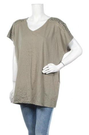 Дамска блуза Amy Vermont, Размер XXL, Цвят Зелен, Памук, Цена 11,81лв.