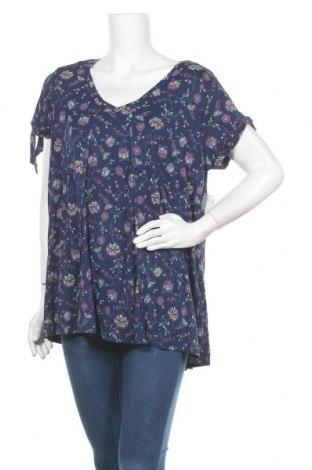 Γυναικεία μπλούζα A.N.A., Μέγεθος XL, Χρώμα Μπλέ, 95% βισκόζη, 5% ελαστάνη, Τιμή 22,73€