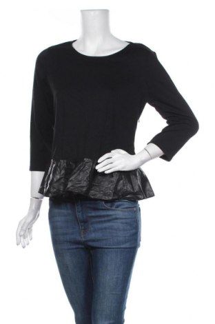 Γυναικεία μπλούζα Ann Taylor, Μέγεθος L, Χρώμα Μαύρο, Πολυεστέρας, βισκόζη, ελαστάνη, δερματίνη, Τιμή 17,28€