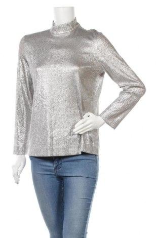 Γυναικεία μπλούζα COS, Μέγεθος L, Χρώμα Ασημί, 69% βισκόζη, 18% πολυεστέρας, 9% πολυαμίδη, 4% ελαστάνη, Τιμή 21,80€