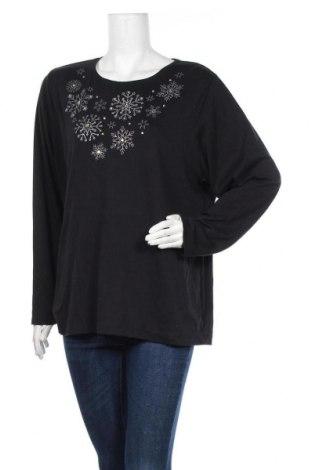 Γυναικεία μπλούζα Croft & Barrow, Μέγεθος XL, Χρώμα Μαύρο, 60% βαμβάκι, 40% πολυεστέρας, Τιμή 11,04€