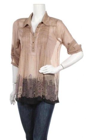 Γυναικεία μπλούζα DDP, Μέγεθος L, Χρώμα  Μπέζ, Πολυεστέρας, Τιμή 8,83€