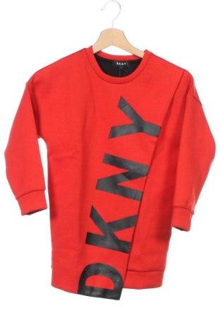 Παιδικό φόρεμα DKNY, Μέγεθος 7-8y/ 128-134 εκ., Χρώμα Κόκκινο, 70% πολυεστέρας, 25% βισκόζη, 5% ελαστάνη, Τιμή 27,79€