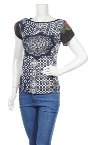 Γυναικεία μπλούζα Desigual, Μέγεθος XS, Χρώμα Πολύχρωμο, 68% βισκόζη, 28% πολυαμίδη, 4% ελαστάνη, Τιμή 22,40€
