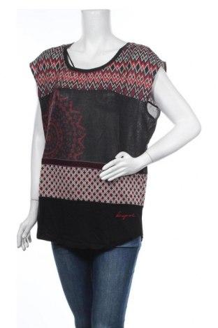 Γυναικεία μπλούζα Desigual, Μέγεθος L, Χρώμα Πολύχρωμο, 57% πολυεστέρας, 36% βισκόζη, 5% βαμβάκι, 2% ελαστάνη, Τιμή 20,36€