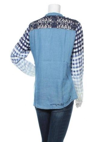 Γυναικεία μπλούζα Desigual, Μέγεθος XL, Χρώμα Μπλέ, 60% βισκόζη, 32% lyocell, 8% πολυεστέρας, Τιμή 49,87€