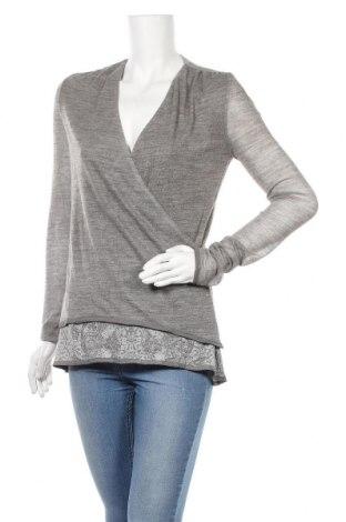 Γυναικεία μπλούζα Ermanno Scervino, Μέγεθος L, Χρώμα Γκρί, 50% βισκόζη, 27% πολυεστέρας, 23% μαλλί, Τιμή 164,54€