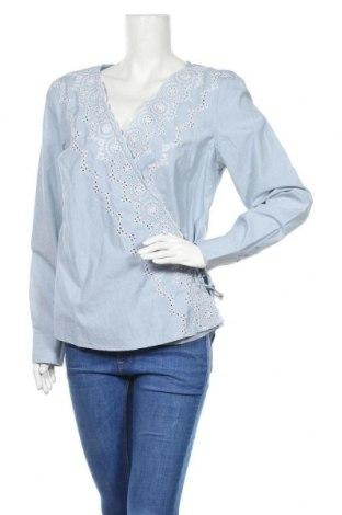 Дамска блуза Gant, Размер L, Цвят Син, Памук, Цена 83,40лв.