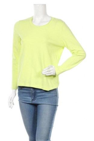 Γυναικεία μπλούζα Gina Laura, Μέγεθος M, Χρώμα Πράσινο, 95% βαμβάκι, 5% ελαστάνη, Τιμή 4,09€