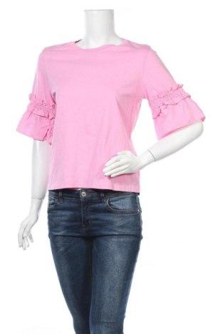 Дамска блуза H&M, Размер M, Цвят Розов, 100% памук, Цена 17,96лв.