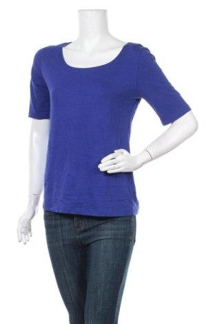 Γυναικεία μπλούζα Indiska, Μέγεθος L, Χρώμα Μπλέ, 47% βαμβάκι, 47% μοντάλ, 6% ελαστάνη, Τιμή 5,71€
