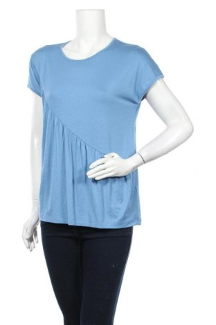 Дамска блуза Kaffe, Размер M, Цвят Син, 95% вискоза, 5% еластан, Цена 46,50лв.
