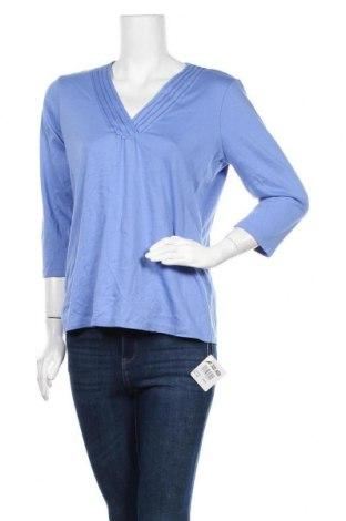 Дамска блуза L.L. Bean, Размер L, Цвят Син, Памук, Цена 17,85лв.