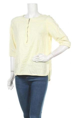 Γυναικεία μπλούζα Liz Jordan, Μέγεθος XL, Χρώμα Κίτρινο, 52% λινό, 48% βισκόζη, Τιμή 16,05€