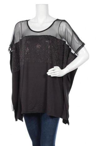Γυναικεία μπλούζα Liz Jordan, Μέγεθος XL, Χρώμα Μαύρο, 95% πολυεστέρας, 5% ελαστάνη, Τιμή 11,11€