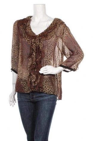 Дамска блуза Liz Jordan, Размер XL, Цвят Кафяв, Полиестер, Цена 4,54лв.