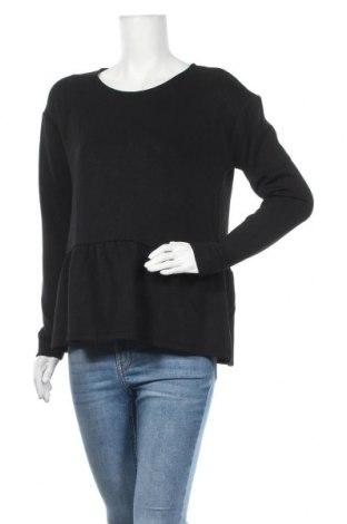 Дамска блуза MSCH, Размер M, Цвят Черен, 76% вискоза, 18% полиестер, 6% еластан, Цена 20,70лв.