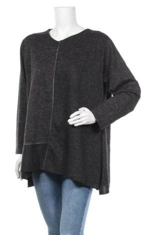 Γυναικεία μπλούζα Made In Italy, Μέγεθος XL, Χρώμα Γκρί, 75% βισκόζη, 20% πολυεστέρας, 5% ελαστάνη, Τιμή 11,69€