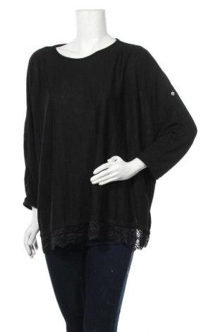 Γυναικεία μπλούζα Made In Italy, Μέγεθος XL, Χρώμα Μαύρο, Τιμή 7,73€