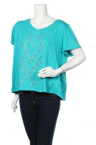 Γυναικεία μπλούζα Maggie T, Μέγεθος XXL, Χρώμα Πράσινο, 60% βαμβάκι, 40% μοντάλ, Τιμή 5,71€