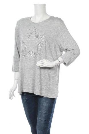 Γυναικεία μπλούζα Michele Boyard, Μέγεθος XL, Χρώμα Γκρί, 67% βισκόζη, 33% πολυεστέρας, Τιμή 10,52€