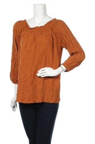 Γυναικεία μπλούζα Mix, Μέγεθος XL, Χρώμα Καφέ, Βισκόζη, Τιμή 8,02€