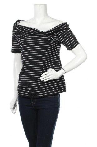 Γυναικεία μπλούζα Now, Μέγεθος XL, Χρώμα Μαύρο, Βαμβάκι, ελαστάνη, Τιμή 11,11€