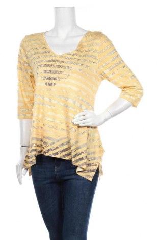 Дамска блуза One World, Размер XL, Цвят Жълт, 50% полиестер, 50% вискоза, Цена 10,08лв.