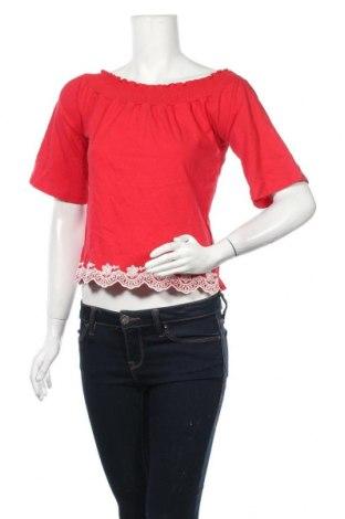 Γυναικεία μπλούζα Orsay, Μέγεθος XS, Χρώμα Κόκκινο, Βαμβάκι, Τιμή 11,04€