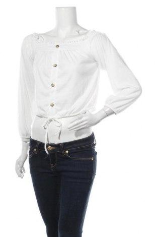 Γυναικεία μπλούζα Pieces, Μέγεθος S, Χρώμα Λευκό, 96% πολυεστέρας, 3% πολυεστέρας, 1% ελαστάνη, Τιμή 5,81€