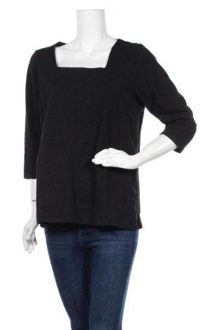 Γυναικεία μπλούζα Rivers, Μέγεθος XL, Χρώμα Μαύρο, 95% βαμβάκι, 5% ελαστάνη, Τιμή 8,83€