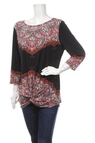 Γυναικεία μπλούζα Rockmans, Μέγεθος XL, Χρώμα Μαύρο, 95% πολυεστέρας, 5% ελαστάνη, Τιμή 13,64€