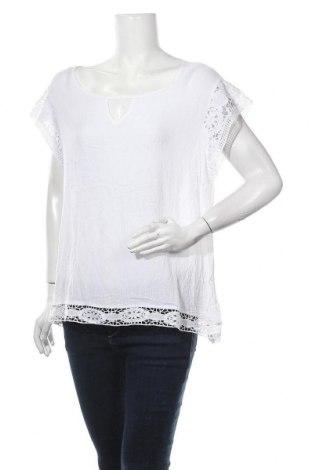 Γυναικεία μπλούζα Rockmans, Μέγεθος XXL, Χρώμα Λευκό, Βισκόζη, Τιμή 11,04€