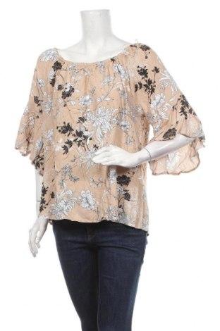 Γυναικεία μπλούζα Rockmans, Μέγεθος XXL, Χρώμα  Μπέζ, Βισκόζη, Τιμή 11,04€