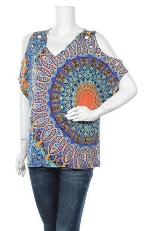 Γυναικεία μπλούζα Rockmans, Μέγεθος L, Χρώμα Πολύχρωμο, Τιμή 11,04€