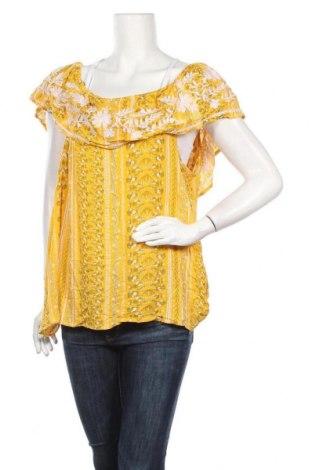 Γυναικεία μπλούζα Rockmans, Μέγεθος XXL, Χρώμα Κίτρινο, Βισκόζη, Τιμή 11,11€