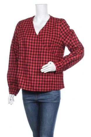 Дамска блуза SHEIN, Размер XL, Цвят Червен, 80% памук, 20% еластан, Цена 5,71лв.