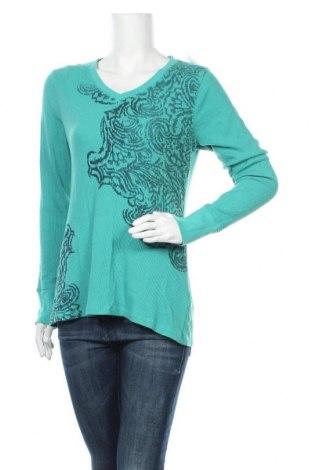 Γυναικεία μπλούζα Sonoma, Μέγεθος M, Χρώμα Πράσινο, 58% βαμβάκι, 38% πολυεστέρας, 4% ελαστάνη, Τιμή 10,49€