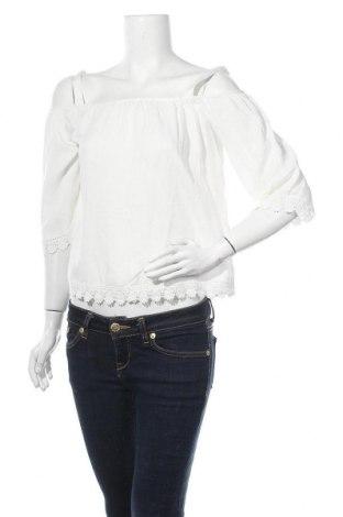 Γυναικεία μπλούζα Springfield, Μέγεθος S, Χρώμα Λευκό, Βισκόζη, Τιμή 12,06€