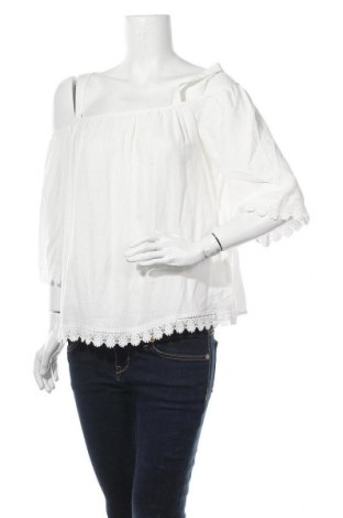 Γυναικεία μπλούζα Springfield, Μέγεθος L, Χρώμα Λευκό, Βισκόζη, Τιμή 14,07€