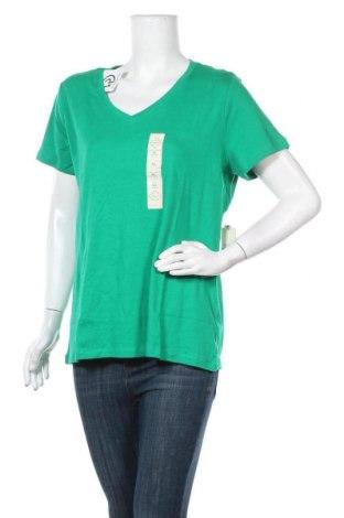 Γυναικεία μπλούζα St. John's Bay, Μέγεθος XL, Χρώμα Πράσινο, Βαμβάκι, Τιμή 13,64€