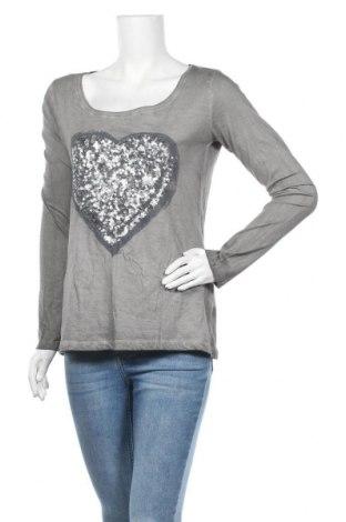 Дамска блуза Sublevel, Размер S, Цвят Сив, 100% памук, Цена 16,80лв.