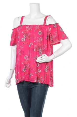 Γυναικεία μπλούζα Time and tru, Μέγεθος L, Χρώμα Ρόζ , 95% βισκόζη, 5% ελαστάνη, Τιμή 9,87€