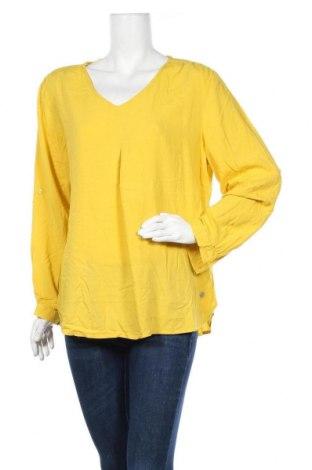 Γυναικεία μπλούζα Tom Tailor, Μέγεθος XL, Χρώμα Κίτρινο, Βισκόζη, Τιμή 26,68€