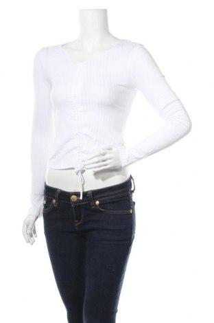 Γυναικεία μπλούζα Trendyol, Μέγεθος M, Χρώμα Λευκό, 50% πολυεστέρας, 45% βαμβάκι, 5% ελαστάνη, Τιμή 9,84€