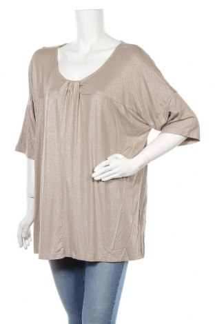 Γυναικεία μπλούζα Ulla Popken, Μέγεθος XL, Χρώμα  Μπέζ, 95% βισκόζη, 5% ελαστάνη, Τιμή 12,06€