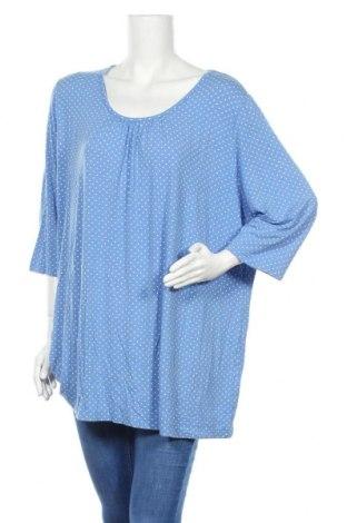 Γυναικεία μπλούζα Ulla Popken, Μέγεθος XXL, Χρώμα Μπλέ, 95% βισκόζη, 5% ελαστάνη, Τιμή 11,04€