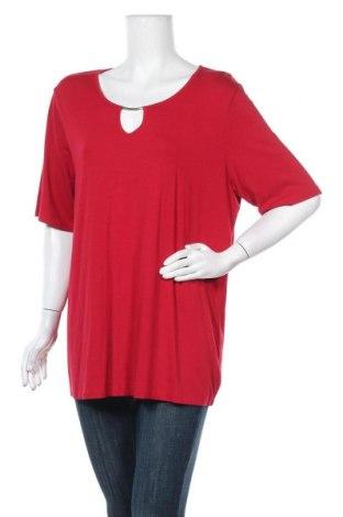 Γυναικεία μπλούζα Ulla Popken, Μέγεθος XXL, Χρώμα Κόκκινο, 95% βισκόζη, 5% ελαστάνη, Τιμή 8,64€